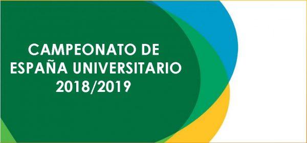 Campeonatos de España Universitarios 18/19