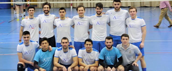 UNEATLANTICO VS UPV en la 1ª Fase del Campeonato de España Universitario de Voleibol