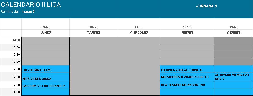 calendario-competicion-semana-nueve-de-marzo